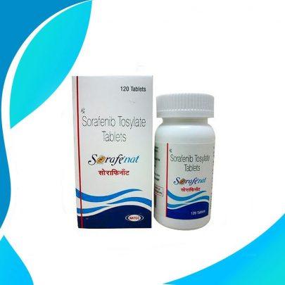 SORAFENAT 200MG 120TAB Является мультикиназным ингибитором. Уменьшает пролиферацию опухолевых клеток in vitro. Показано, что сорафениб подавляет многочисленные внутриклеточные киназы (с-CRAF, BRAF и мутантную BRAF) и киназы, расположенные на поверхности клетки (KIT, FLT-3, RET, VEGFR-1, VEGFR-2, VEGFR-3 и PDGFR-β).