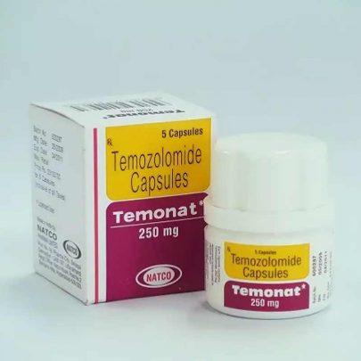 TEMONAT 250MG 5CAPS Темозоломид Лечение рака Индия