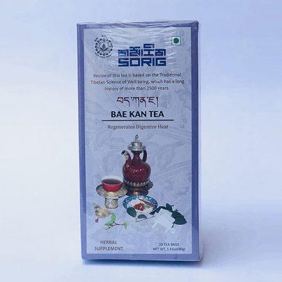 Тонизирующий тибетский чайный сбор Бае кан, 40 г, производитель Сориг; Bae kan tea regenerates digestive heat, 40 g, Sorig